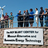 Globe/Roger Nomer<br /> Sen. Roy Blunt cuts the ribbon on the newly renamed Roy Blunt Center for Missouri Alternative and Renewable Energy Technology on Friday at Crowder College.