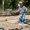 Globe/Roger Nomer<br /> Darion Eimer, 3, Joplin, plays on Thursday at the Wildcat Glades Conservation & Audubon Center.