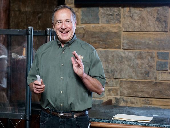 Globe/Roger Nomer <br /> Johnny Morris talks about the opening of the Wonders of Wildlife National Museum and Aquarium.
