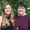 Globe/Roger Nomer<br /> Samantha Mountjoy and her aunt Jennifer Cartright