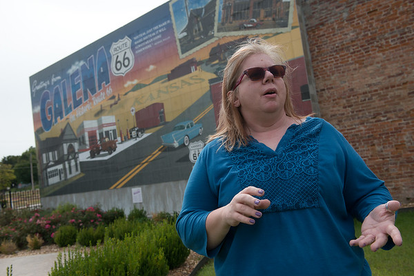 Globe/Roger Nomer<br /> Florence Collins, Galena assistant city clerk, talks about the city's preparations for the Route 66 Marathon during an interview on Tuesday.