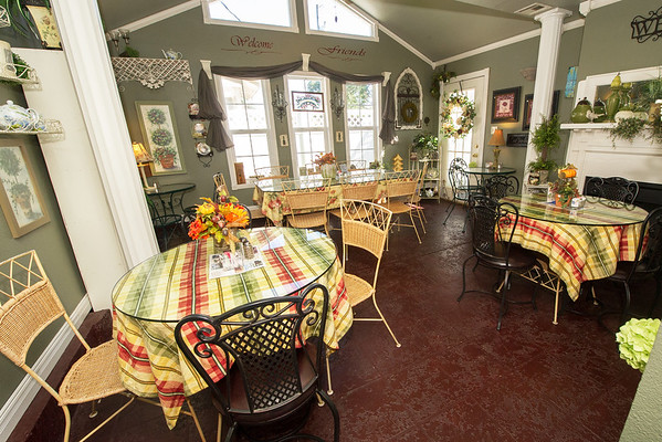 The Terrace inside Maggie Mae's Tea Room in Miller is one of several themed rooms in the restaurant.<br /> Globe | Laurie Sisk