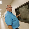Globe/Roger Nomer<br /> Chris Roper, agriculture director for the Quapaw tribe, gives a tour of the new processing facility on Wednesday.