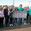Globe/Roger Nomer<br /> The Joseph family presents a check for $1,500 to Hope 4 You from sales of lights on Wednesday at Panera Bread, as part of the kick off for October's Breast Cancer Awareness Month. The Josephs own Lights of Hope JoMo, and create artistic light-up bottles. They contributed their September sales of the bottles to the organization.