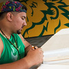 Globe/Roger Nomer<br /> Antonio Carranco, a Missouri Southern senior from Webb City, studies on Tuesday.