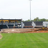 Crews continue excavation on the infield at Joe Becker Stadium on Tuesday in preparation for installation of field turf.<br /> Globe | Laurie Sisk