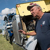 Globe/Roger Nomer<br /> R.M. Spooner, Batesville, Ark., talks about his truck on Friday at the Big Truck Show.