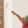 Globe/Roger Nomer<br /> Homeowner Charlotte King paints a wall on Monday during a Habitat for Humanity build in Joplin.