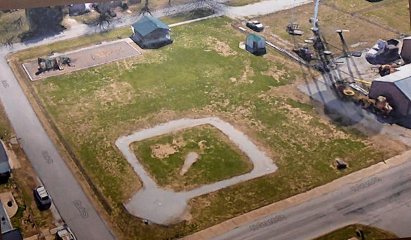 An aerial view supplies an image of a baseball field in Oronogo.<br /> Courtesy photo
