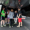 "Visitors take a closer look at the interior of the B-29 Bomber ""Fifi"" on Monday at the Joplin Regional Airport.<br /> Globe 