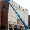 Work continues on the Howsmon building on Wednesday in downtown Joplin.<br /> Globe | Roger Nomer