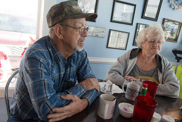 Cloyce and Gilda Hendrix talk about Cloyce's breast cancer treatment.<br /> Globe | Roger Nomer