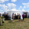 Visiotrs check out a wide varity of art media during the Joplin Arts Fest on Saturday at Mercy Park.<br /> Globe | Laurie Sisk