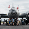 "Visitors tour the B-29 Bomber ""Fifi"" on Monday at the Joplin Regional Airport.<br /> Globe 