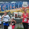 Half-marathon runners enter Galena on Route 66 during Sunday's Mother Road Marathon.<br /> Globe | Roger Nomer