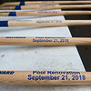 Shovels are prepared for the groundbreaking at the Roaring River hatchery on Friday.<br /> Globe | Roger Nomer