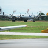 "The B-29 Bomber ""Fifi"" lands at the Joplin Regional Airport on Monday.<br /> Globe 
