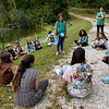 Daisy, Brownie and Girl Scouts engage in a game of Killer Frog on Wednesday at Camp Mintahama.<br /> Globe | Laurie Sisk