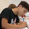 Raul Basulto, senior, takes a dual-credit anatomy class at Carthage High School on Thursday.<br /> Globe | Roger Nomer