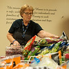 Bonnie Pettus volunteers at the Wesley House food pantry on Tuesday in Pittsburg.<br /> Globe | Roger Nomer