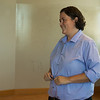 Loni Smith, director of small business incubation for the Joplin Area Chamber of Commerce, talks about a co-working space inside the Newman Innovation Center on Monday.<br /> Globe | Roger Nomer