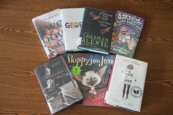 Books from the challenged books list of 2018.