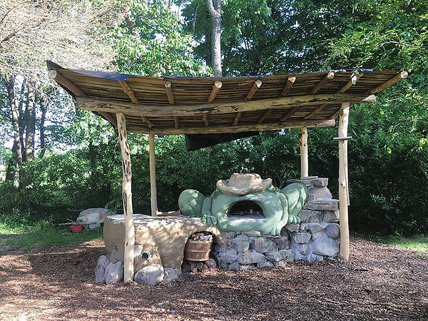This is an example of a pizza oven, made by Uncle Mud (Chris McClellen) from natural resources. Courtesy Photo