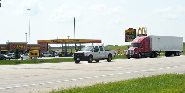 Traffic makes its way past a busy  traffic area on Hwy 86 on Wednesday in Neosho. The Neosho City Council is considering options for either a traffic signal or round about near the busy intersection near I-49.
