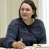 Cora Wesley, 16, adds to the discussion on voter turn out during the inaugural Youth Council meeting on Wednesday night at Joplin City Hall. The council is made up of 11 teens from public and private schools in Joplin.<br /> Globe | Laurie Sisk