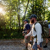 Veterans participate in a practice ruck on Monday along the Frisco Greenway Trail.<br /> Globe | Roger Nomer