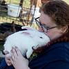 Bryanna Cobb, Joplin High sophomore, holds her rabbit Dexter during Thursday's Ag Day at Joplin High School.<br /> Globe | Roger Nomer