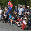 "PArticipants and supporters of the the ""Let's Roll '19 Ruck March"" gather for a pre-march photo on Saturday at Redings Mill Bridge. The event, sponsored by Compass Quest, included about 30 participants who hiked the 14-mile course to raise awareness concerning veteran's issues.<br /> Globe 