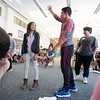 BEN GARVER — THE BERKSHIRE EAGLE<br /> Students at Herberg Middle School participate in a workshop to diffuse difficult situations that caused by bias taught by Phil Fogelman, director of the World of Difference Institute and the Anti-Defamation League of New England.