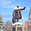 Snow on statue