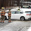 BEN GARVER — THE BERKSHIRE EAGLE<br /> Two cars collided on West Housatonic Street near Hungerford Street in Pittsfield, Monday December 30, 2019.