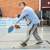 BEN GARVER — THE BERKSHIRE EAGLE<br /> Tom Jayko returns a shot during a Pickleball match at the CRA in Dalton, Monday, January 13, 2020. The CRA offers Pickleball for adults every weekday from 9:30 to noon.