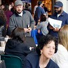 BEN GARVER — THE BERKSHIRE EAGLE<br /> Job seekers wander through the 1Berkshire career fair.<br /> 1Berkshire held its annual Career Fair at Taconic High School, Wednesday, April 17, 2019.