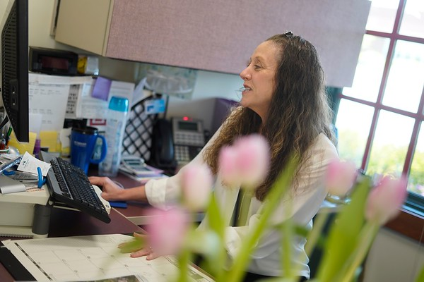 BEN GARVER — THE BERKSHIRE EAGLE<br /> Victoria Layden at Molari Employment & HealthCare Services, Pittsfield.  May 22, 2019.