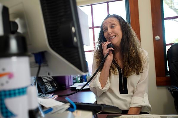 BEN GARVER — THE BERKSHIRE EAGLE<br /> Victoria Layden at Molari Employment & HealthCare Services, Pittsfield.  May 22, 2019.