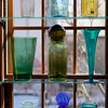 BEN GARVER — THE BERKSHIRE EAGLE<br /> Antique handmade glass adorns a window at FLint Antiques in Lenox. <br /> Charles Flint and his wife Joy are retiring and closing Flint Antiques in Lenox on Housatonic Street. Wednesday, November 13, 2019.  Flint has had a gallery in downtown lenox for 42 years and is a leader in the business community.