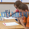Rebecca Motes' second period Jobs For Graduates students complete a jobs assessment questionnaire on Thursday morning. Fran Ruchalski/Palatka Daily News