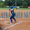 Academy at the Lakes pitcher Lexi Kilfoyl throws a pitch to Peniel Baptist Academy hitter Summer Langston in the fourth inning. Mark Blumenthal/Palatka Daily News