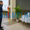 A Palatka police officer salutes the memorial for former Palatka officer Sean Paul Tuder who was killed in the line of duty with another department. Fran Ruchalski/Palatka Daily News