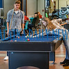Before going to their first classes, students play pool and prepare for their studies in the Viking Center on the first day of the new semester at St. Johns River State College on Monday morning. Fran Ruchalski/Palatka Daily News