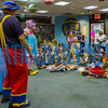 Clowns Pinky and Groovy put on a show for kids at Toddler Fest at the Putnam County Headquarters Library on Saturday morning. About 700 people attended the second annual event this year. Fran Ruchalski/Palatka Daily News