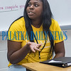 Makayla Beauford discusses the importance of the upcoming career and college fair being held at Palatka High School for choosing the right nursing program for her.. Fran Ruchalski/Palatka Daily News