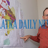 Palatka interim planning director Dean Mimms points to an old map of the city on the wall of his City Hall office. Fran Ruchalski/Palatka Daily News