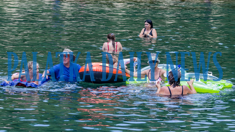 With temperatures climbing into the upper 90's, Wednesday was a great day to get in a bit of soaking at Salt Spring in the Ocala National Forest just over the Putnam County line. Fran Ruchalski/Palatka Daily News