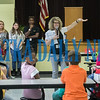 Rebecca Motes and her students from Palatka High School conduct a learning activity at Long Elementary School Wednesday to get the fifth-graders thinking about their future careers and educational goals. Fran Ruchalski/Palatka Daily News