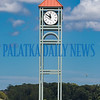 The Palatka clock tower is now in place at the foot of St. Johns Avenue at the riverfront. Fran Ruchalski/Palatka Daily News